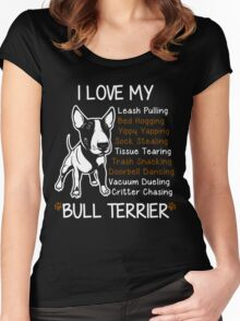 Bull Terrier Lover Women's Fitted Scoop T-Shirt