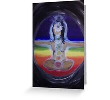 Chakra Yogi (Girl) Greeting Card