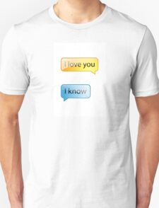 i love you text Unisex T-Shirt