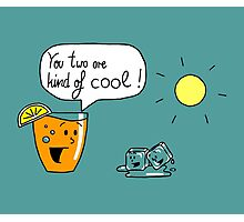 Talking Juice - Orange Juice and Ice cubes Photographic Print