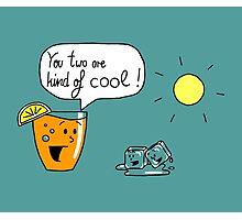Talking Juice - Orange Juice and Ice cubes Photographic Print