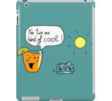 Talking Juice - Orange Juice and Ice cubes iPad Case/Skin