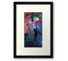 banksy ballon galaxy  Framed Print
