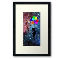 banksy ballon galaxy  Framed Print