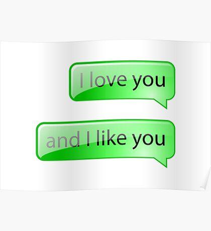 I love you and I like you Poster