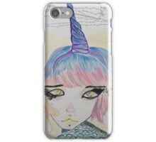 Unicorn Hybrid Girl iPhone Case/Skin