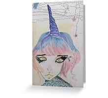 Unicorn Hybrid Girl Greeting Card