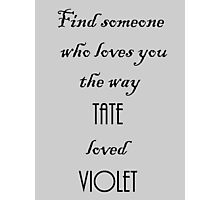 Tate and Violet Photographic Print