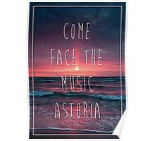 Marianas Trench Face The Music Astoria Poster