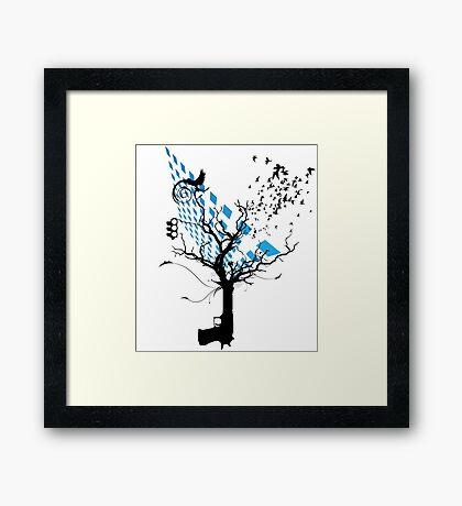 Trendy tree Framed Print