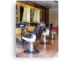Small Town Barber Shop Canvas Print