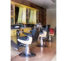 Small Town Barber Shop Photographic Print