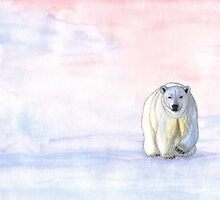 Polar bear in the icy dawn by savousepate