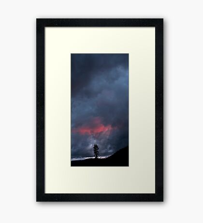 Sunset Over Childs Meadow. Framed Print