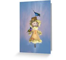 Lady Scarecrow with Birds  Greeting Card