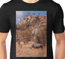 White Rhinoceros below a koppie, Kruger National Park Unisex T-Shirt