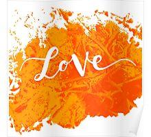 Inscription love Poster