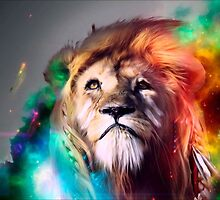Colourful lion by trendism