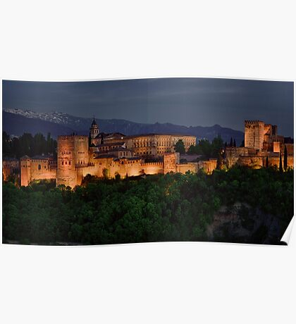 Alhambra Sunset Poster