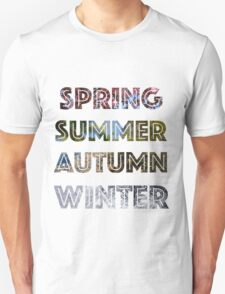 Spring, Summer, Autumn, and Winter Unisex T-Shirt