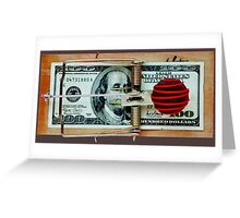 Candy Money Trap Greeting Card