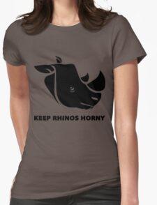 Keep Rhino Horny Womens Fitted T-Shirt