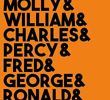 Weasley Family by febolton