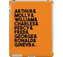 Weasley Family iPad Case/Skin