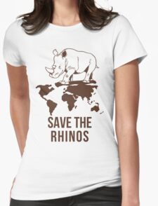 Save the Rhinos Womens Fitted T-Shirt