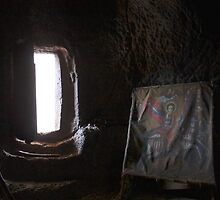 Painting of Saint George in Lalibela, Ethiopia by Dustin Johnson