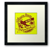 Hathaway For Hire (Red-Yellow) Framed Print