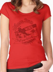Hathaway For Hire (Red-Yellow) Women's Fitted Scoop T-Shirt