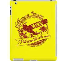 Hathaway For Hire (Red-Yellow) iPad Case/Skin