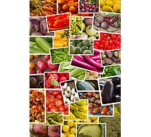 Fruits and Vegetables Collage Photographic Print