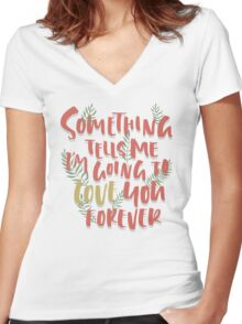 Love you Forever Women's Fitted V-Neck T-Shirt
