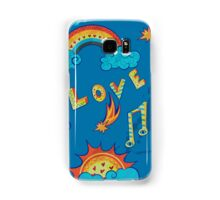 seamless pattern with love, music and weather symbols Samsung Galaxy Case/Skin