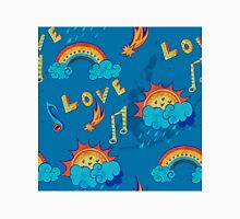 seamless pattern with love, music and weather symbols Classic T-Shirt