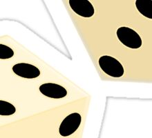 LUCK, LUCKY, DOUBLE SIX, DICE, Throw the Dice, Casino, Game, Gamble, CRAPS Sticker
