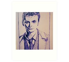 Tenth Doctor Drawing Art Print