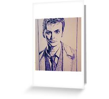 Tenth Doctor Drawing Greeting Card