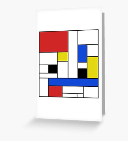 Mondrian Lines Greeting Card