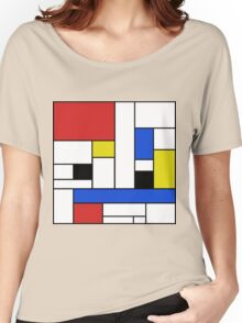 Mondrian Lines Women's Relaxed Fit T-Shirt