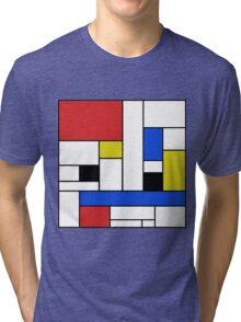 Mondrian Lines Tri-blend T-Shirt