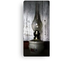 Old Oil Lamp . Canvas Print