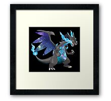 Mega Charizard X - Pokemon Framed Print