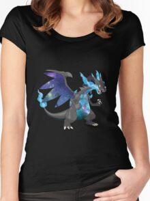 Mega Charizard X - Pokemon Women's Fitted Scoop T-Shirt