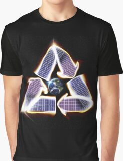 Solar Panel Earth Recycle Graphic T-Shirt