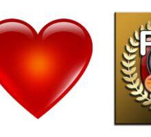 I Love PFA (Tan) Sticker
