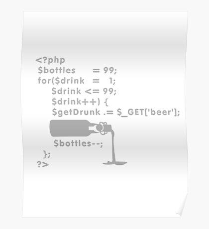 PHP: 99 bottles o' beer VRS2 Poster