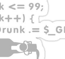 PHP: 99 bottles o' beer VRS2 Sticker